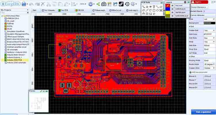 cómo dibujar circuitos electrónicos-online-y-gratis-para
