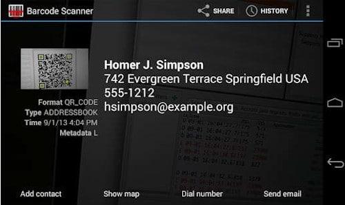 Cómo escanear el código QR con Android 2