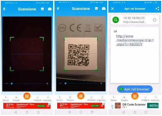 Cómo escanear el código QR con Android 3