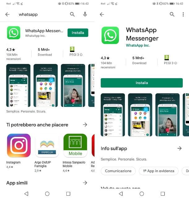 Descarga WhatsApp en Android