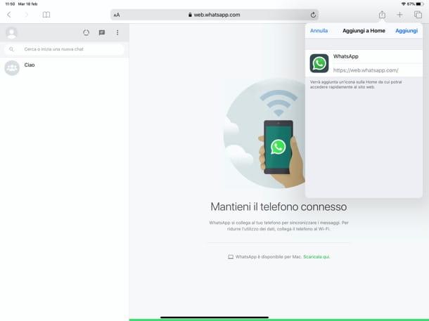 WhatsApp Web en iPad