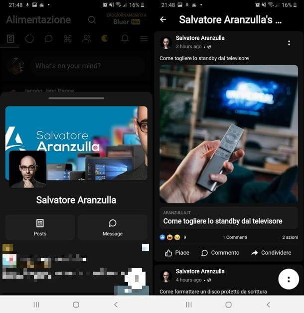 Busca en Aranzulla con Bluer para Facebook y Messenger
