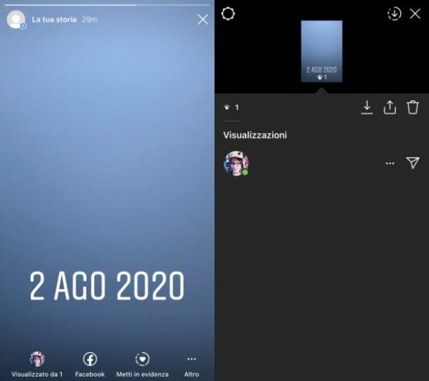 Visualización de historias de Instagram