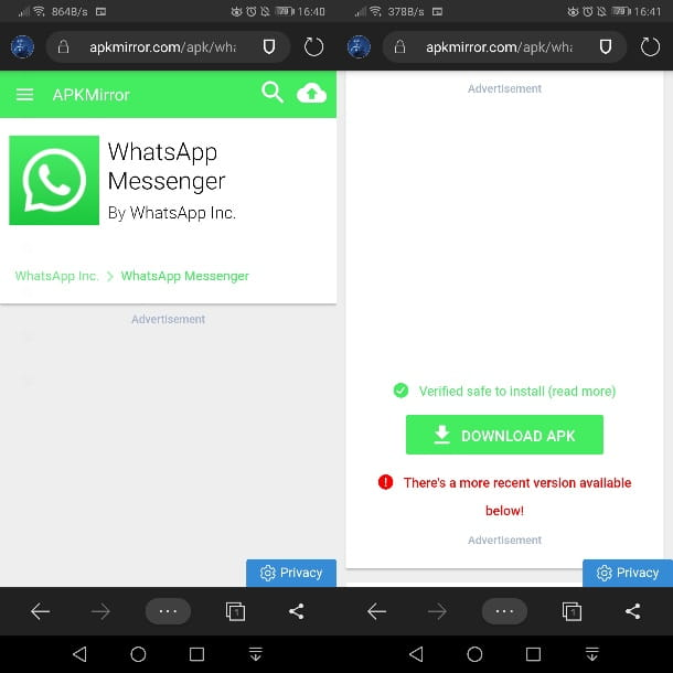 WhatsApp en APKMirror