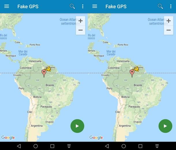 Elija la ubicación en GPS falso