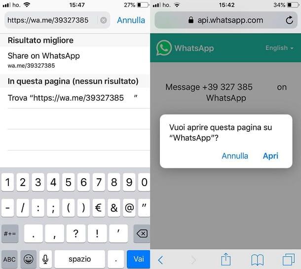 IPhone de WhatsApp
