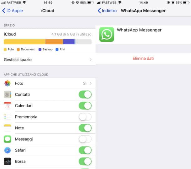 Eliminar la copia de seguridad de WhatsApp de iPhone